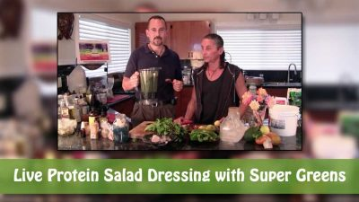 Live Protein Salad Dressing with Super Greens