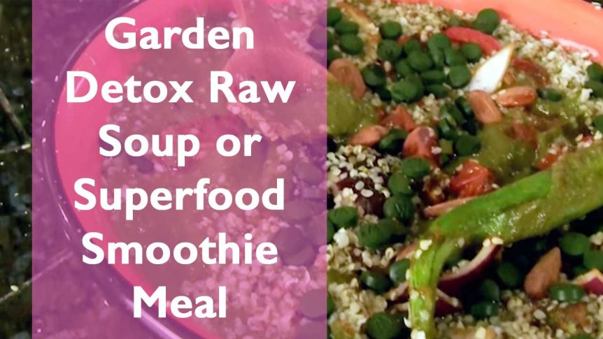 Garden Detox Raw Soup or Superfood Smoothie Meal