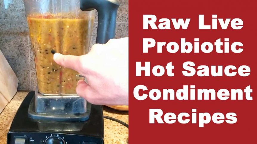 Raw Live Probiotic Hot Sauce Condiment Recipes