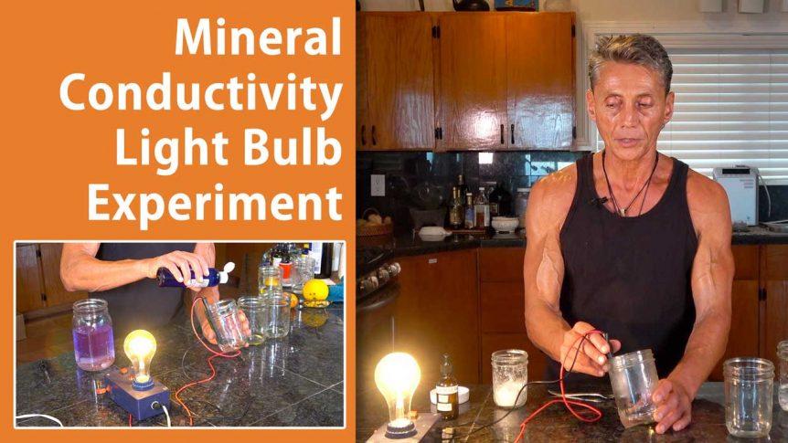 Mineral Conductivity Light Bulb Experiment