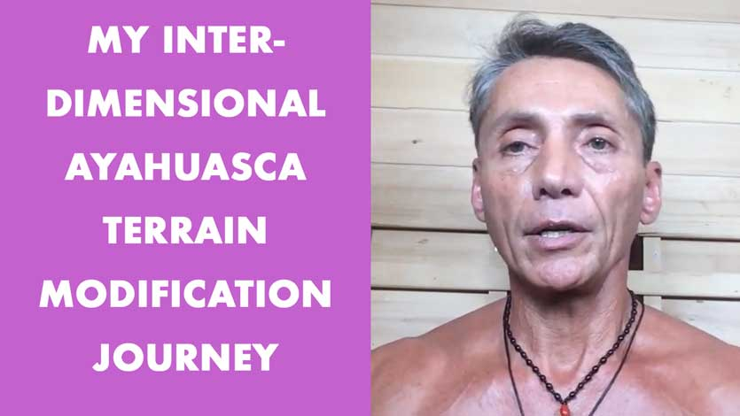 My Interdimensional Ayahuasca Terrain Modification Journey
